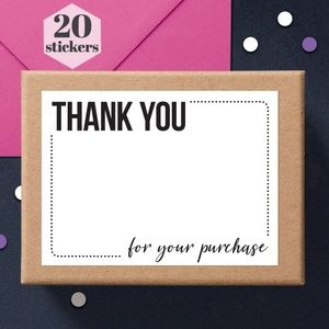 Thank You for Your Purchase Posh Package Stickers